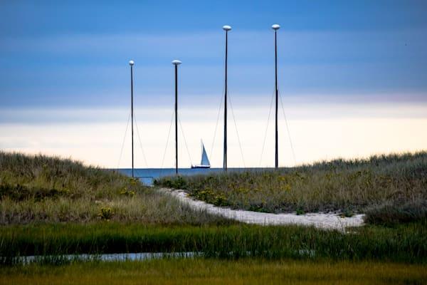 Catamaran Masts Photography Art | The Colors of Chatham
