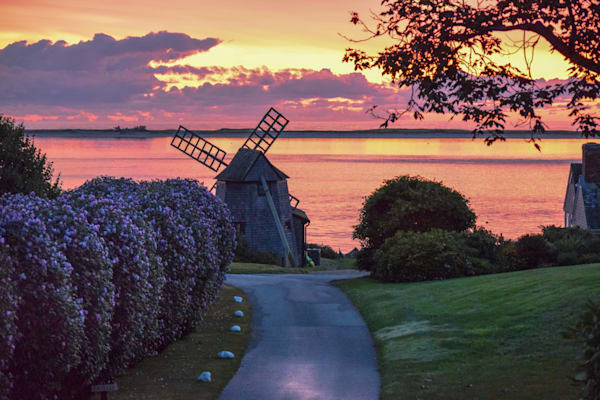 Shore Road Windmill Photography Art | The Colors of Chatham