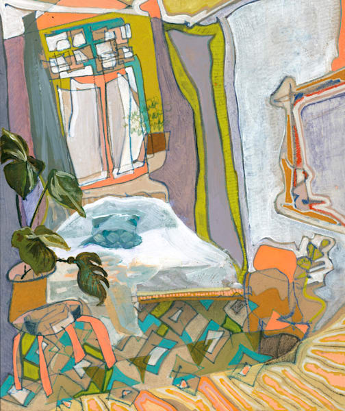 Camile's Home In Berlin No. 01 /// Sold Art   Erika Stearly, American Artist