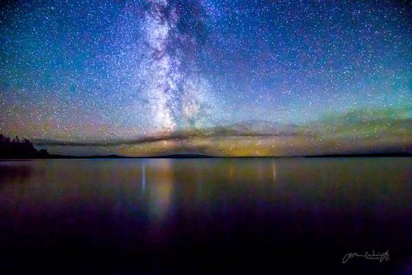 Milky Way Over Lake Yellowstone Photography Art | John Winnie Jr. Photography