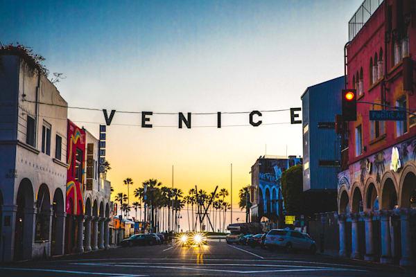 Venice California Photo, Venice sign, Los Angeles City Print, Urban Landscape, Wall Art Print, Street Photography, Fine Art Print