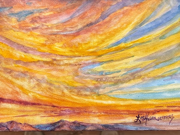 Lindy Cook Severns Art | Feathers of the Sky, original watercolor