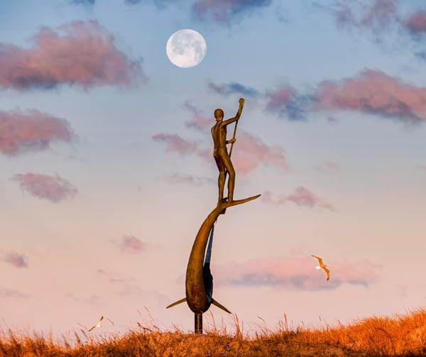 Menemsha Sword Fisherman Moon Art | Michael Blanchard Inspirational Photography - Crossroads Gallery