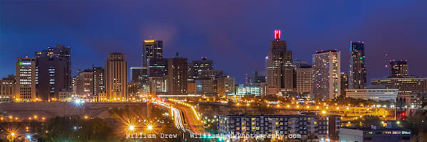 St. Paul Skyline At Dusk   Garage Sale Photography Art | William Drew Photography