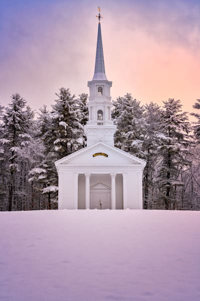 Winter Glow at the Chapel   Shop Photography by Rick Berk