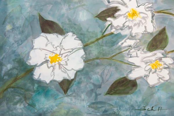 #17 Double Whites And Shadows Art | Elaine Schaefer Hudson Art