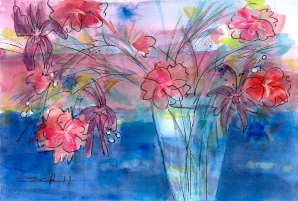 #4 Bright Bouquet And Vase Art | Elaine Schaefer Hudson Art