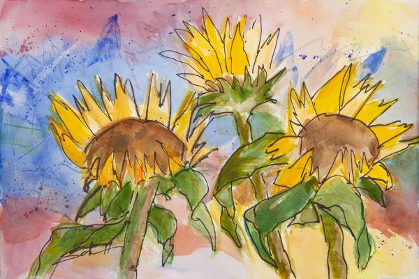 #16 Sunflower Morning Art | Elaine Schaefer Hudson Art