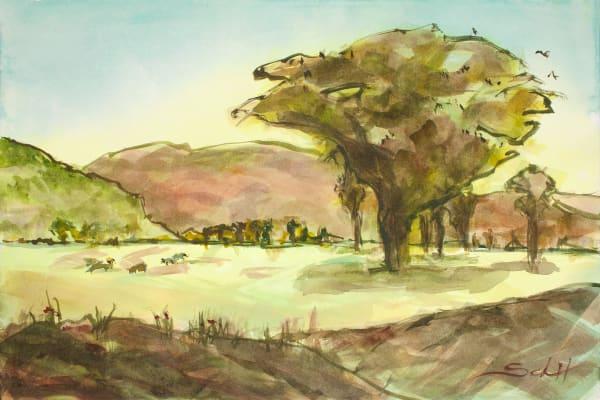 Golden Meadow Art | Elaine Schaefer Hudson Art