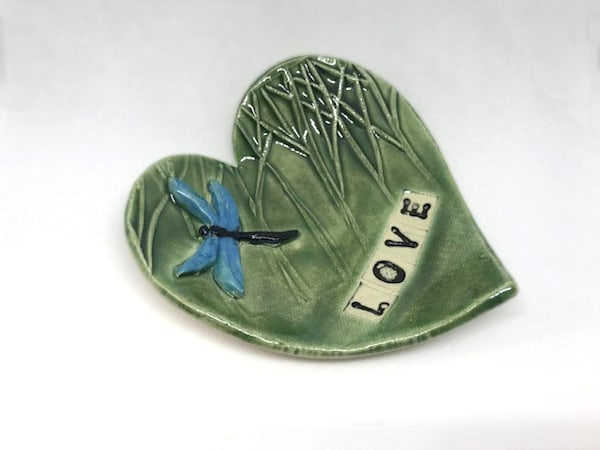 Heart Pottery Dish With Birch Trees | http://www.mooseprintsgallery.com