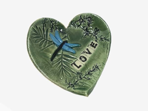 Love Pottery Dish With Foliage  | http://www.mooseprintsgallery.com