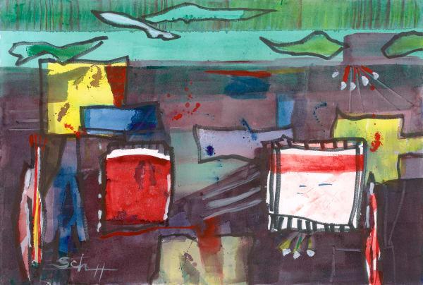 Green River Troupe Art | Elaine Schaefer Hudson Art