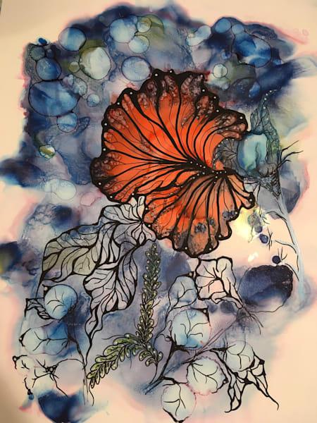 Monarch Flora Art | Art With Judy Ann