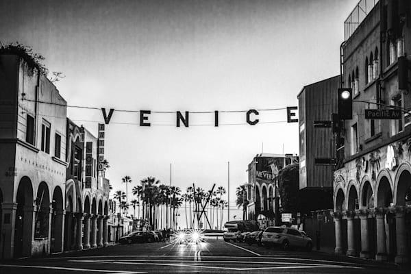 venice photo, venice sign, California, black and white, Los Angeles photography, Venice California, Urban Landscape, Wall Art Print, Street Photography, Fine Art print