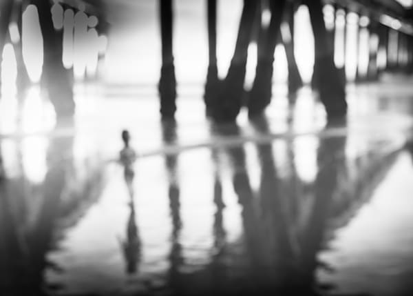 Abstract Art, Black and White, Modern Abstract Photo, Abstract Wall Art, art print, extra large wall art, Los Angeles abstract photo, beach pier