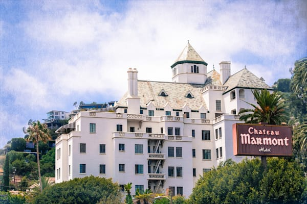 Chateau Marmont, Los Angeles Landmarks, Hollywood Iconic Photography, California Wall Art Print, Fine Art Print, California Photography