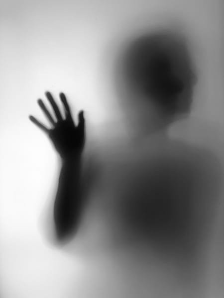modern abstract photography, isolated, silhouette photo, black and white wall art, hand on window, modern art print