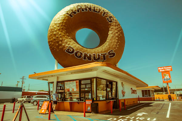 Randy's Donuts - Los Angeles Photography, Wall Art Print, Fine Art Print, Urban Landscape, California, Iconic LA