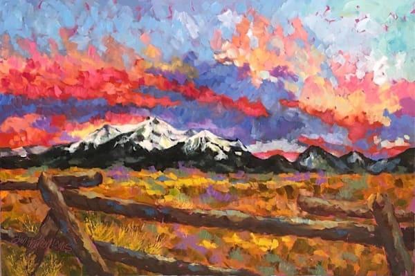 Fire In The Sky 3 Art | Jan Thoreen Lewis Fine Art