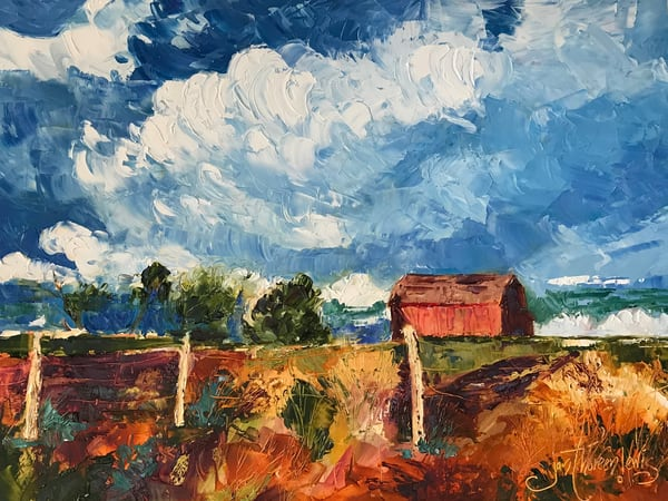 Faded Barn On Rd 22 Art | Jan Thoreen Lewis Fine Art