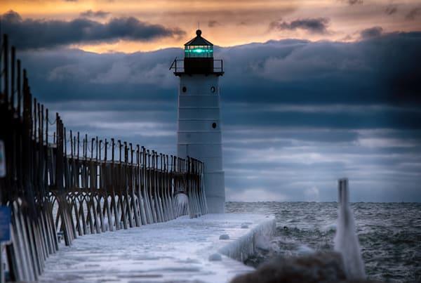Manistee North Pier Head Sunset