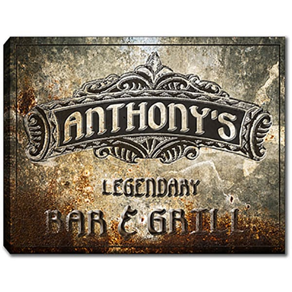 Personalizable Legendary Bar & Grill Canvas Print Sign | Photo 2 Canvas Direct