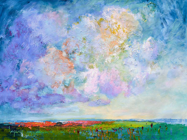 Poppies in the Field Original Oil Painting by Dorothy Fagan
