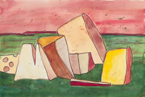 No Cheese Stands Alone Art | Elaine Schaefer Hudson Art