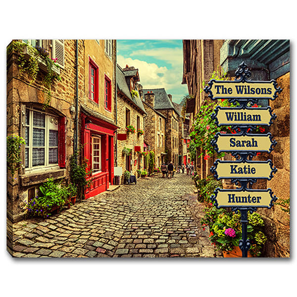Personalizable European Street Sign Canvas Print Or Poster | Photo 2 Canvas Direct