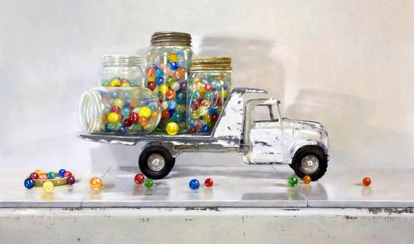 Losing My Marbles Art | Richard Hall Fine Art