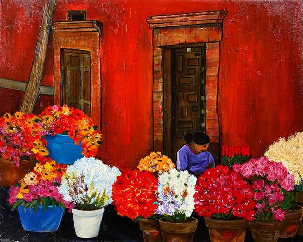 Guanajuato Flower Market (Print) Art | Marissa Sweet