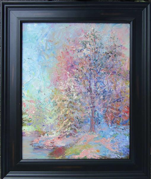 Original oil painting Fist Snow.