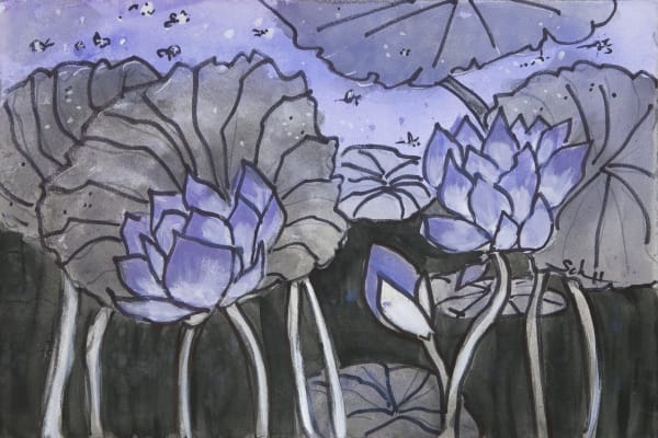 #9 Twilight Lotus    Art | Elaine Schaefer Hudson Art