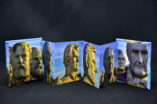 Ruins of Presidents Park mini accordion book