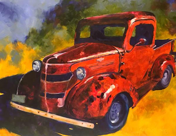 The Truck On Colorado Street Art | Jan Thoreen Lewis Fine Art