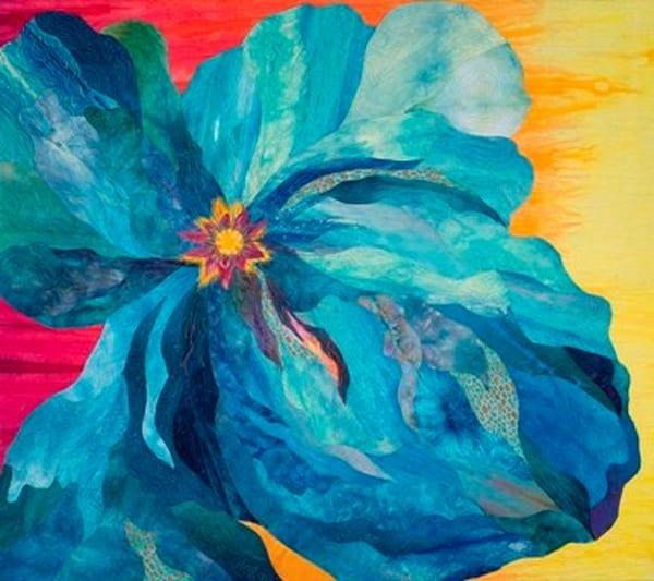 Stroke Of Blue Art   Barbara Olson Fiberarts