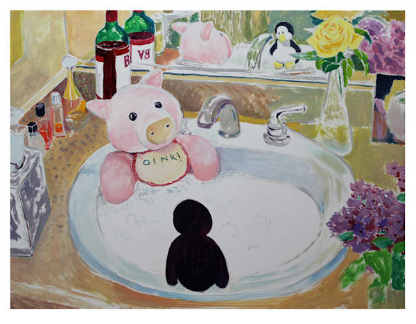 Perky And Sarge Jacuzzi  Art | Not specified