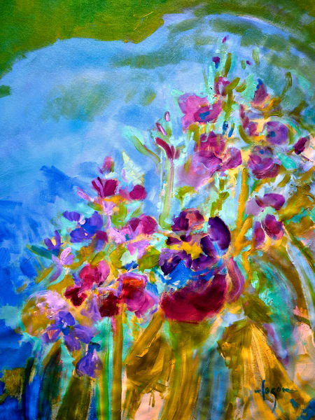 Oversize Painting Abstract Floral Wall Art by Dorothy Fagan