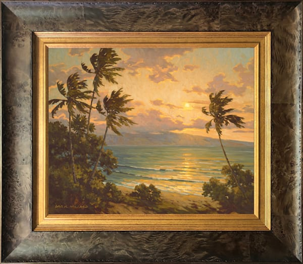 Sunset Over Lanai Framed In Stock