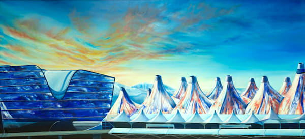 Dia Gateway | Original Mixed Media Painting Art | MMG Art Studio | Fine Art Colorado Gallery