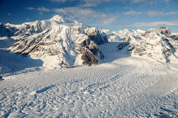 Aerial Winter landscape of Denali and the Alaska Range and Ruth Glacier    Photo by Jeff Schultz/SchultzPhoto.com  (C) 2017  ALL RIGHTS RESERVED