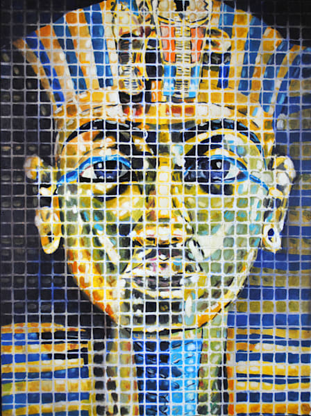 King Tuts Golden Crown Art | TRand Art Studio & Gallery