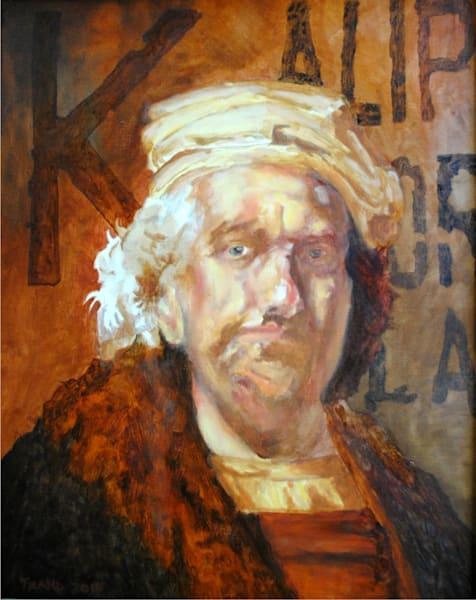 Rembrandt Portrait With Peruvian Political Propaganda Art | TRand Art Studio & Gallery