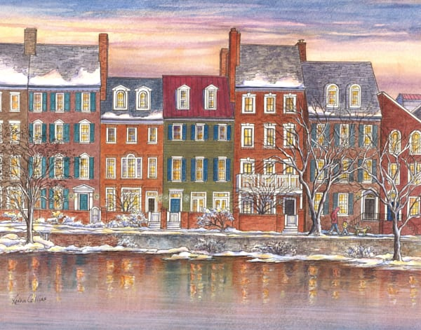 Old Town Alexandria Va Homes On Waterfront | Art Gifts Art | Leisa Collins Art