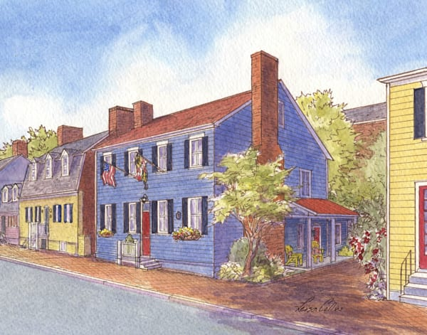 Annapolis Md Heritage Homes | Art Gifts Art | Leisa Collins Art