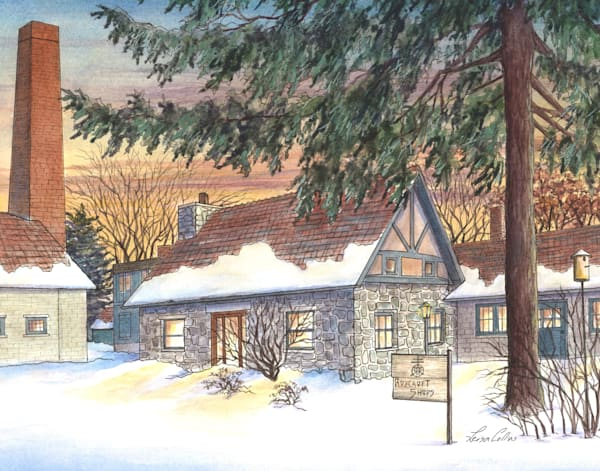 Roycroft Campus In The Snow Ny | Art Gifts Art | Leisa Collins Art