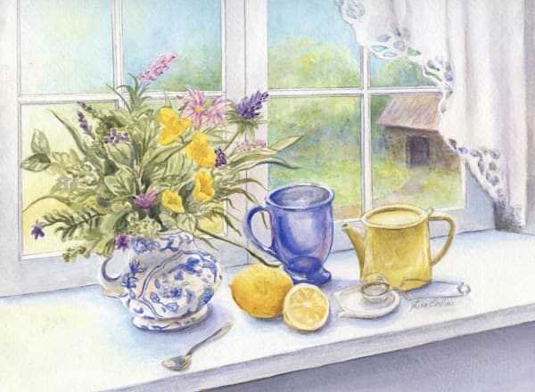 Morning Tea With Lemon Still Life | Art Gifts Art | Leisa Collins Art