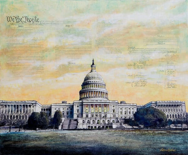 We The People ... Capitol Building | Art Gifts Art | Leisa Collins Art