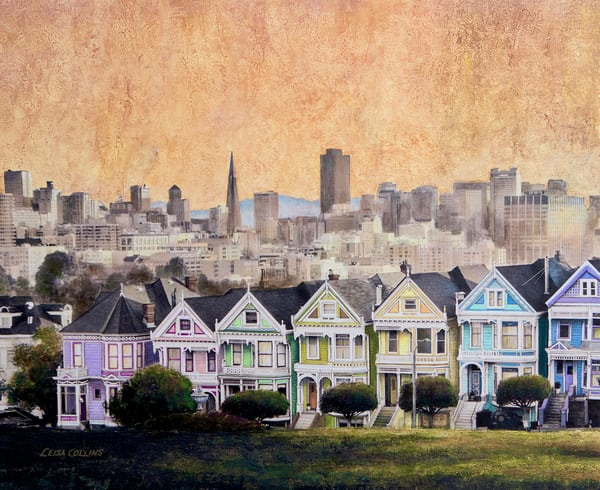 The Painted Ladies Of San Francisco | Art Gifts Art | Leisa Collins Art