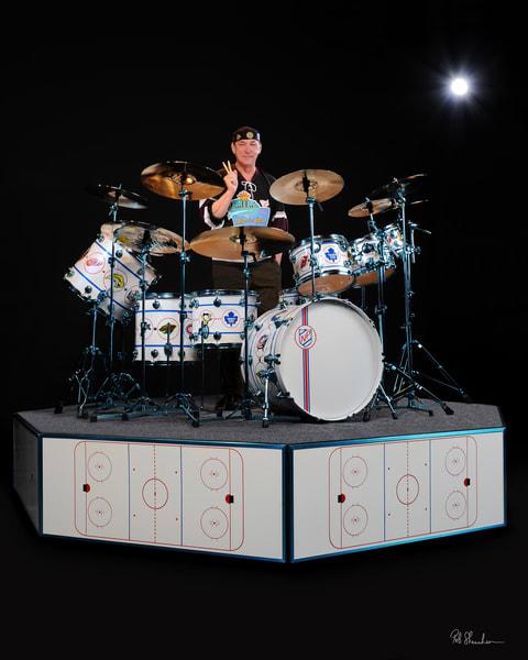 Neil Peart, DW Drums NHL kit, Rob Shanahan